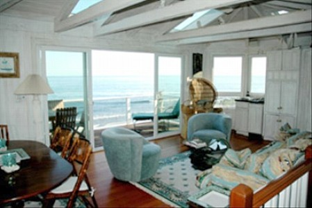 Montecito house rental - Living Room on the Pacific, South