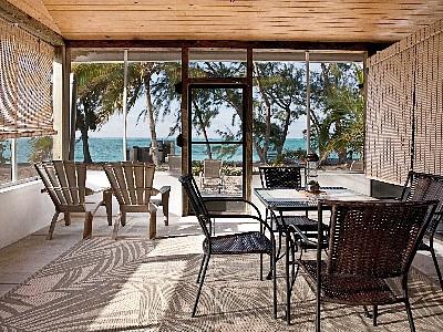 North Caicos condo rental - Ocean view from your own spacious screened patio