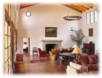 The Great Room- 1200 sq ft- 27ft height. - Montecito, California Home Rental