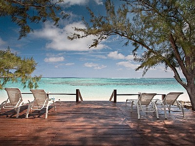 North Caicos condo rental - Enjoy the gentle trade breeze on the deck