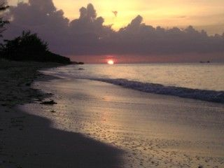 North Caicos condo rental - Romantic North Caicos sunset on Hollywood Beach