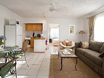 North Caicos condo rental - Living/Dining/Kitchen Combo Room